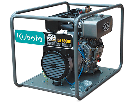The Kubota DA5500E Is A Two Pole Open Type Direct Coupled Single Phase Diesel Generator With Capacity Of 55kVA At 3000 RPM